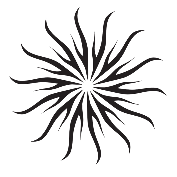 Sun shape silhouette clip art