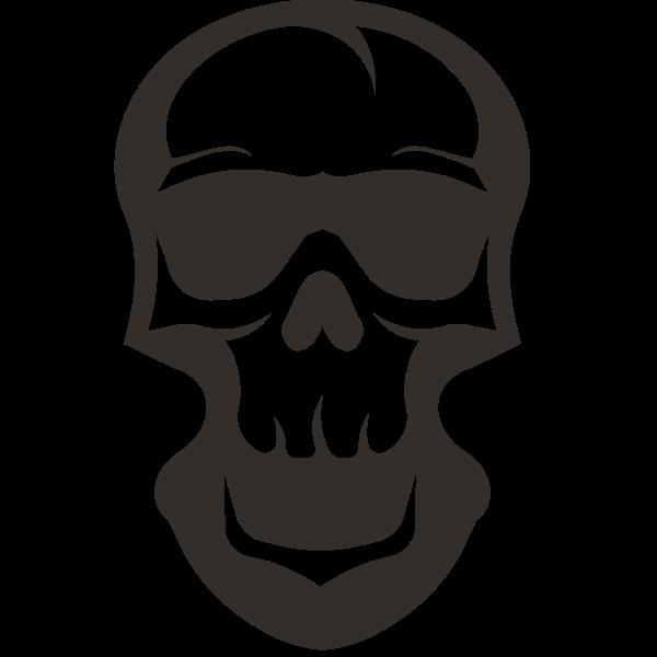 Skull silhouette cut file