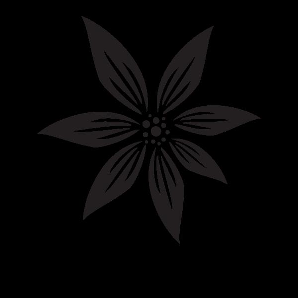 Flower silhouette cut file