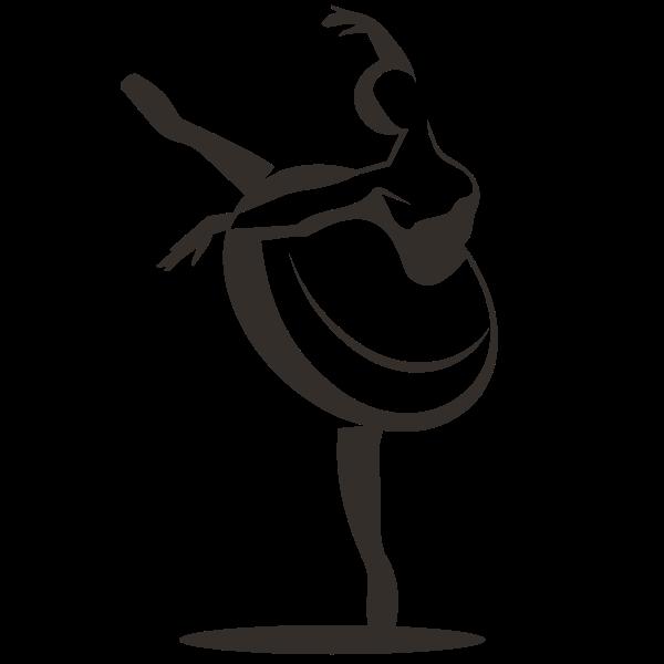 Ballet dancer silhouette clip art