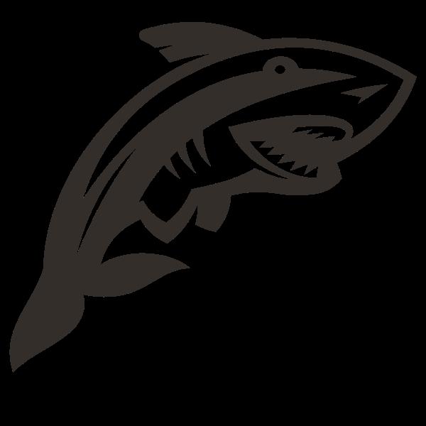 Shark silhouette cut file