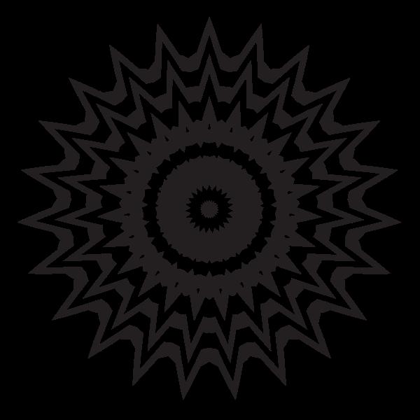 Geometric design element silhouette