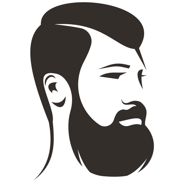 Man with beard silhouette clip art