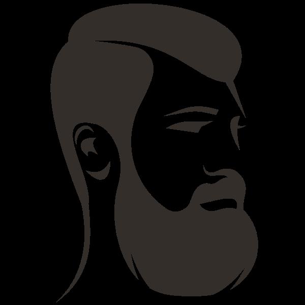 Man with beard silhouette clip art