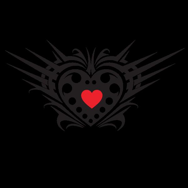 Heart tribal vector art
