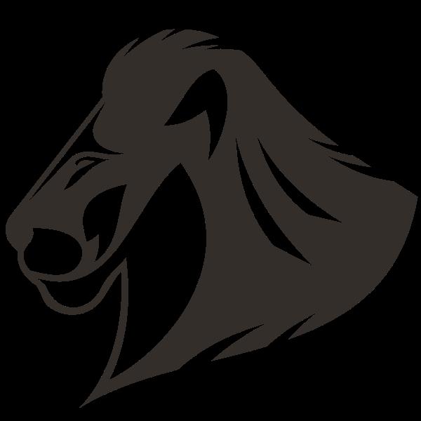 Lion silhouette graphics