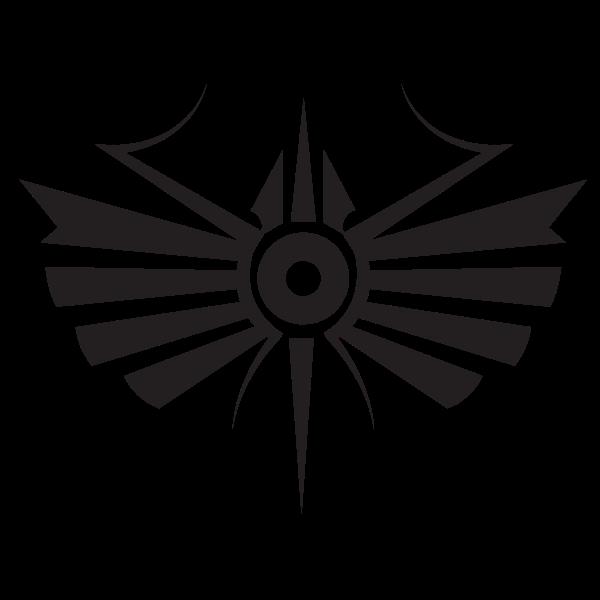 Tribal symbol silhouette