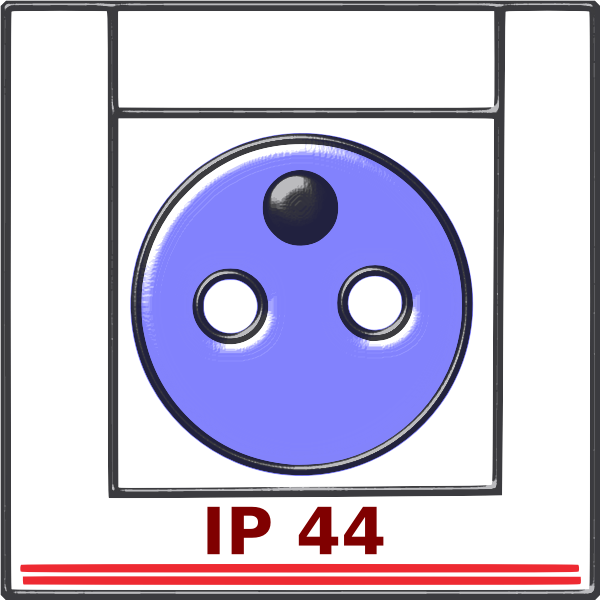 Electrical outlet IP44