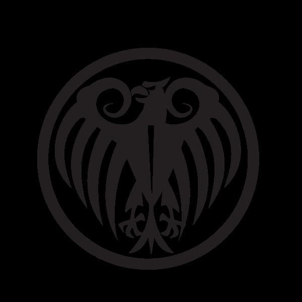 Heraldic eagle silhouette tribal art