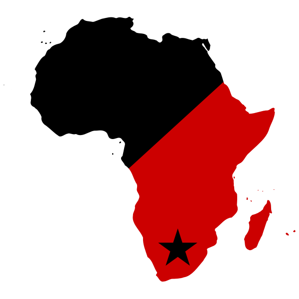 Black and Red Africa with Star