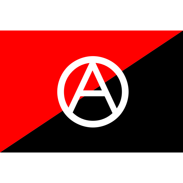 Anarchist flag with A symbol-1573989636