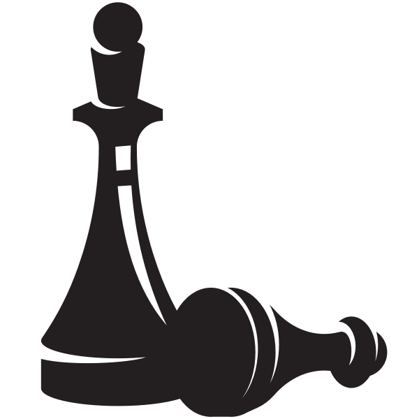 Pawn chess piece silhouette