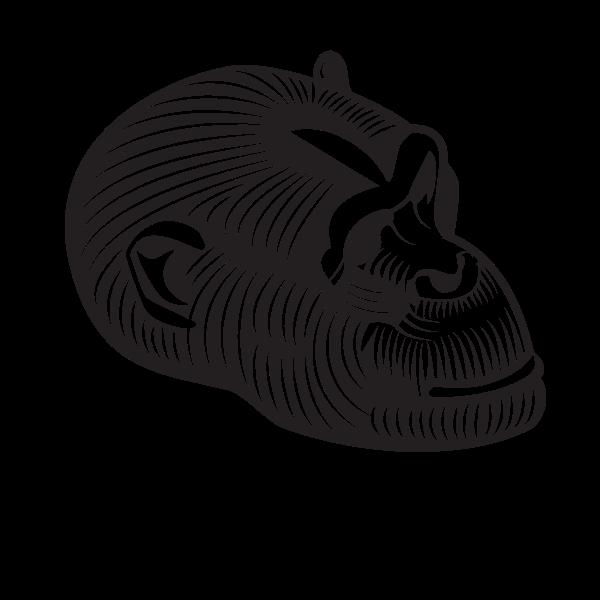 Gorilla's head silhouette