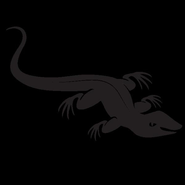 Black lizard silhouette