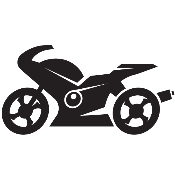 Motorcycle silhouette monochrome