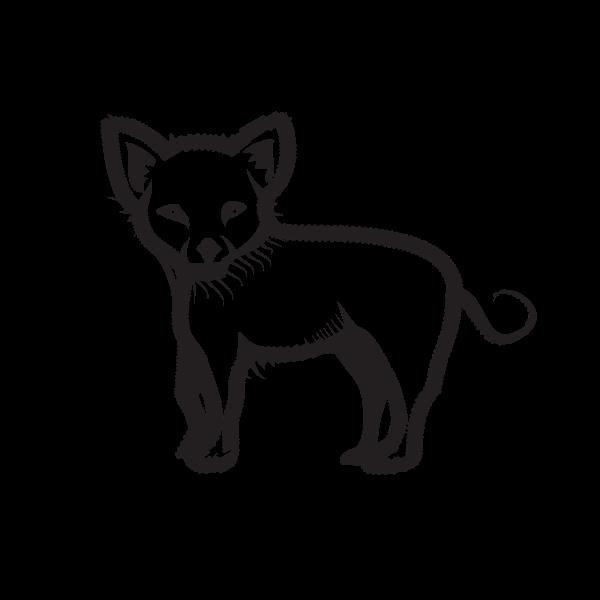 Puppy silhouette clip art