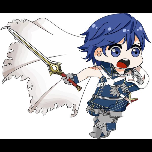 Cartoon Boy wielding Sword