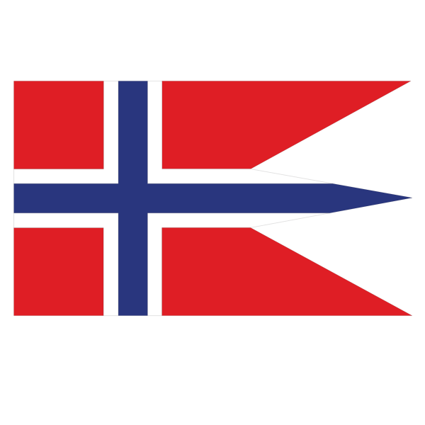 Norwegian state flag clip art