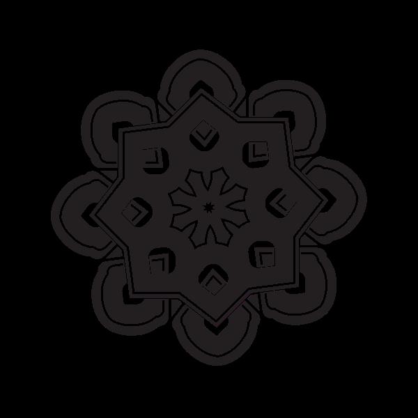 Celtic knot black silhouette