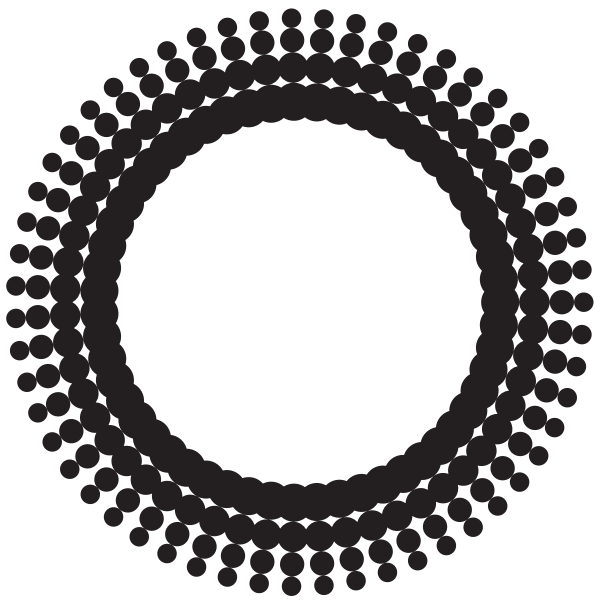 Circle with halftone effect