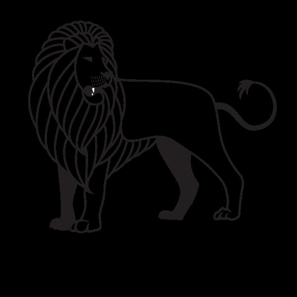 Lion's silhouette