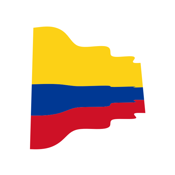 Colombian flag wavy