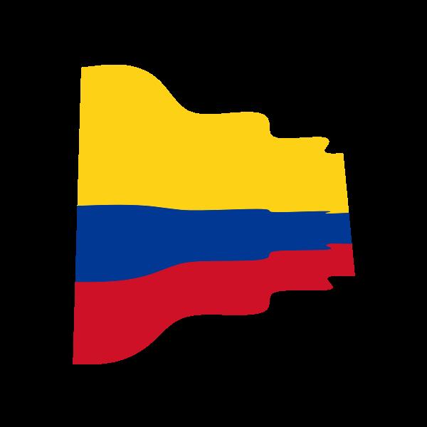 Colombian flag wavy