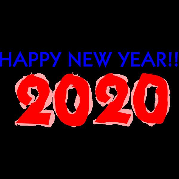 Happy New Year 2020 Free Svg