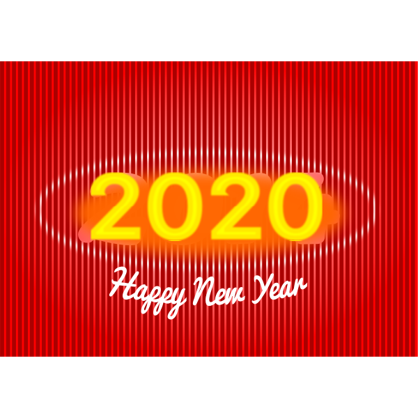Simple 2020 New Year card