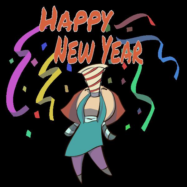 Happy New Year Woman