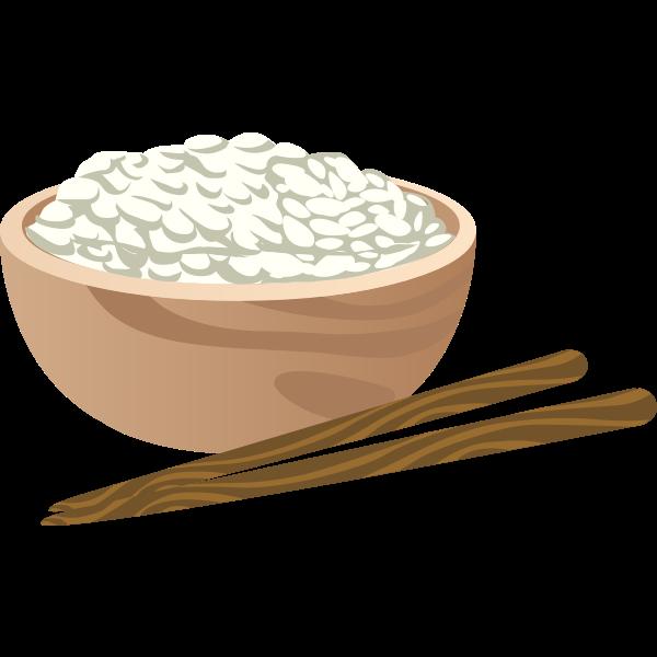 Bowl of rice   Free SVG