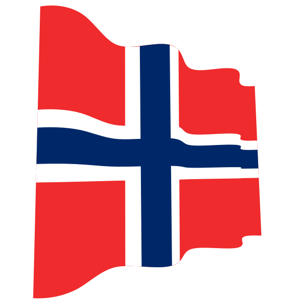 Flag of Norway wavy effect