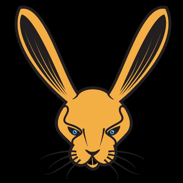 Rabbit's head clip art