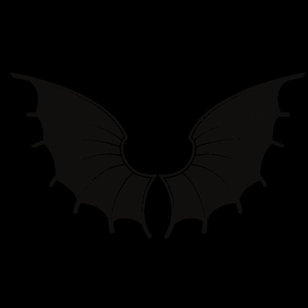 Wings silhouette