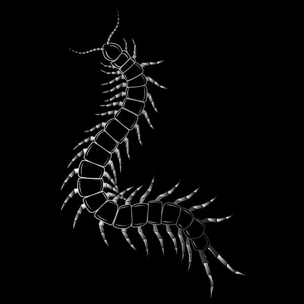Caterpillar silhouette clip art