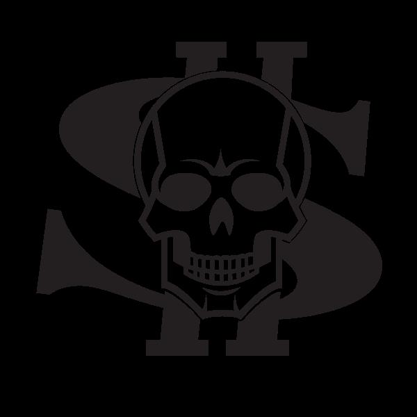 Dollar symbol and a skull