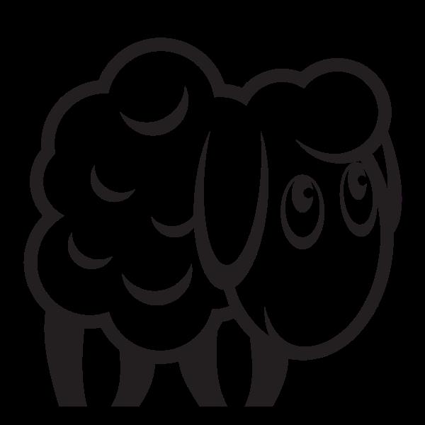 Sheep monochrome silhouette