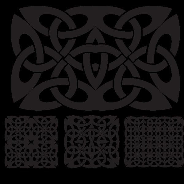 Celtic knots silhouettes
