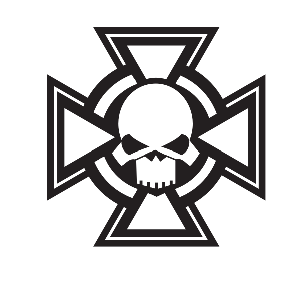 Cross with a skull