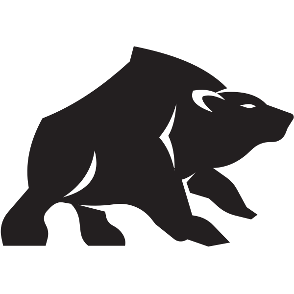 Grizzly silhouette clip art