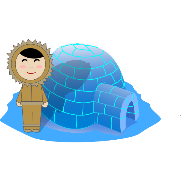Inuit Girl and Igloo