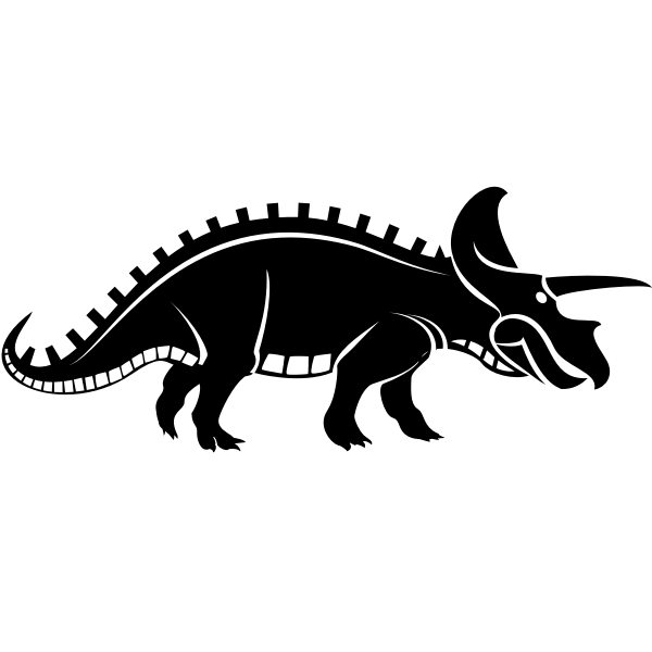 Dinosaur creature silhouette