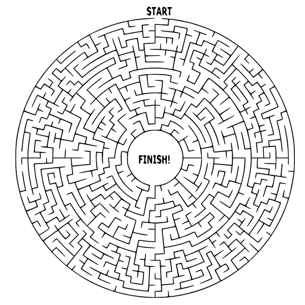 Simple Circle Maze
