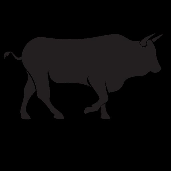 Bull silhouette outline