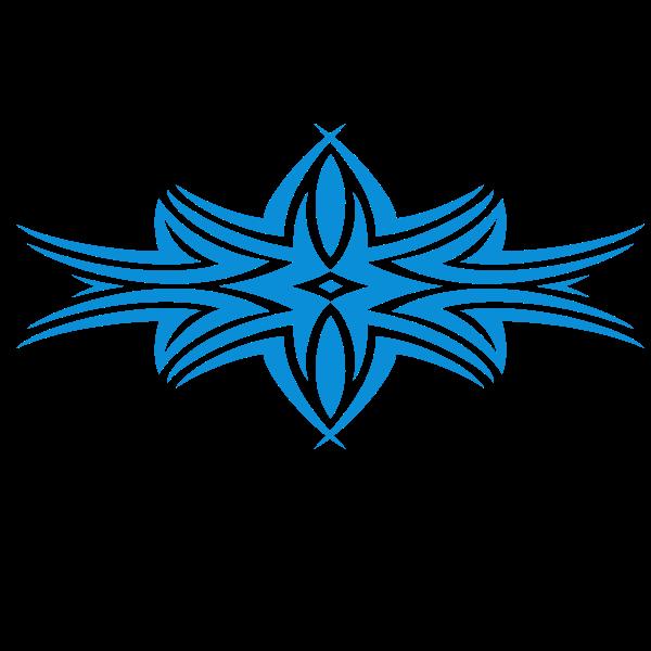 Tribal shape blue color