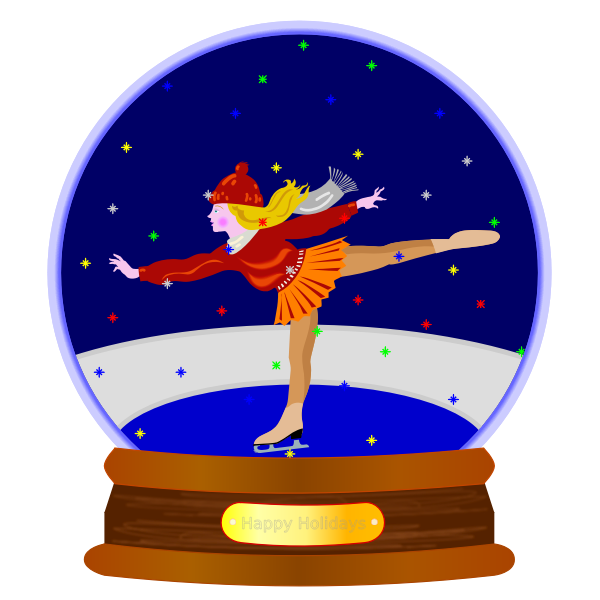 Animated Snow Globe Skater