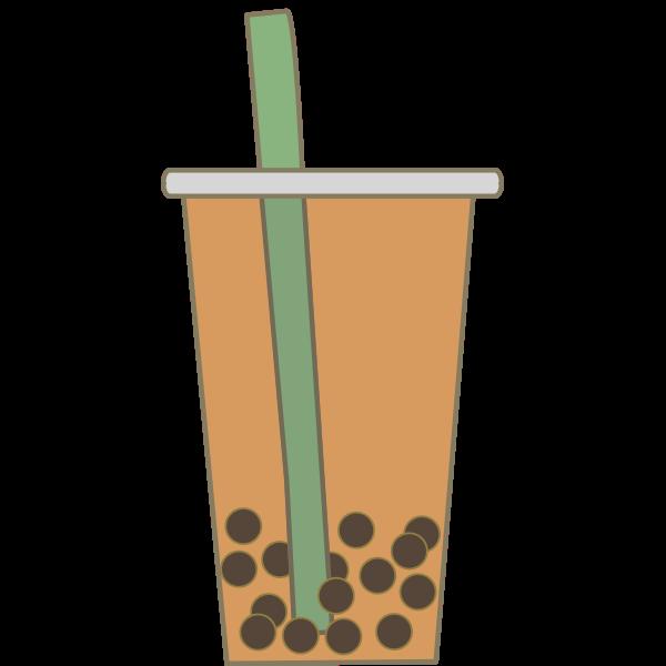 Simple Bubble Tea Free Svg