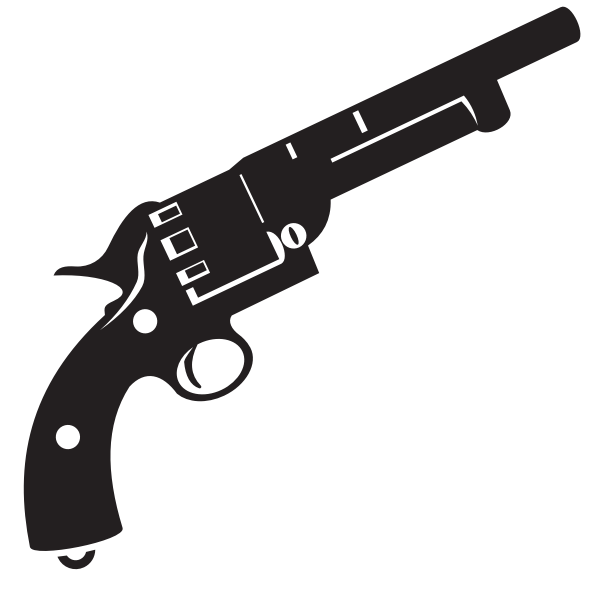 Handgun revolver silhouette