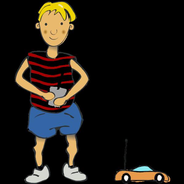 Boy with RC Car