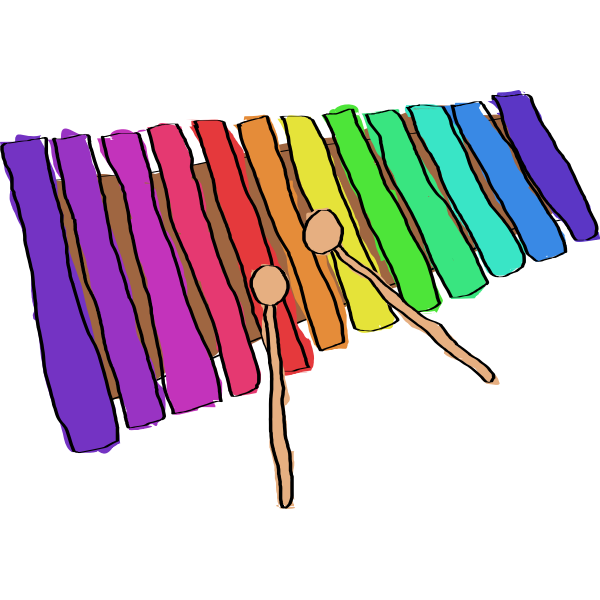 Hand Drawn Xylophone